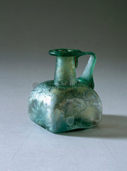 Roman glass bottle with handle  251-450 AD.