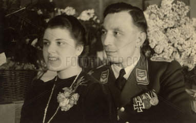 German officer and his wife  Second World War  1940s.