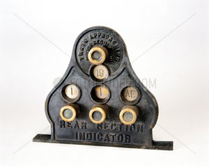 Section indicator made by Tyer and Co.