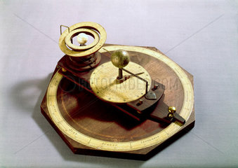 Wooden pulley orrery  1755-1756.