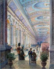 Elaborate station interior  1883.