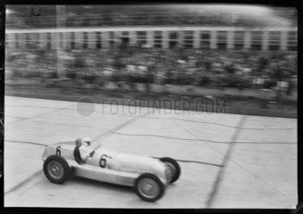 Rudolf Caracciola in his Mercedes-Benz  German Grand Prix  Nurburgring  1934.