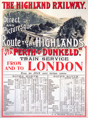 'The Highland Railway'  Highland Railway  1905.