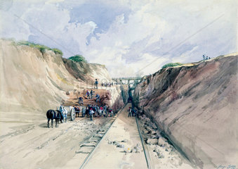 Digging a cutting on the Great Western Railway  1841.