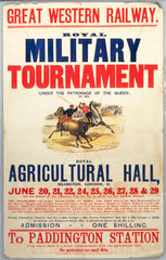 'Royal Military Tournament'  GWR poster  c 1920s.