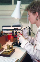 Conservation work  Science Museum  London  1990s.