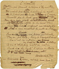 Green Goddess manuscript by Aleister Crowley  1917.