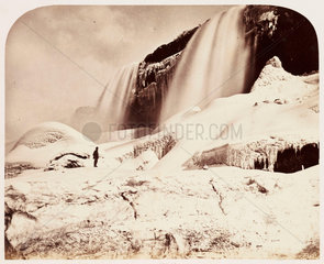 'Part of American Falls  with Caves'  1860.