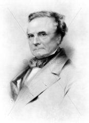 Charles Babbage  British mathematician and computing pioneer  1874.