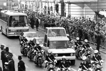 Visit of Pope John Paul II  London  May 1982.