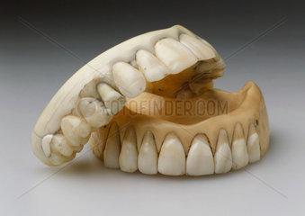 Two full upper dentures  c 1830.