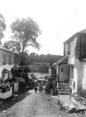 Path down to the River Fowey at Bodinnick  Cornwall  1922.