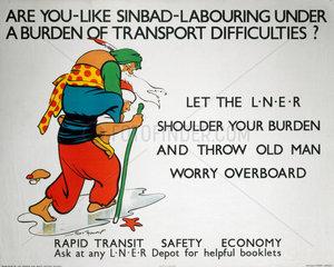 'Rapid Transit - Safety - Economy'  LNER poster  1923-1947.