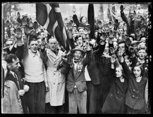 Fascist demonstration  London  1937.