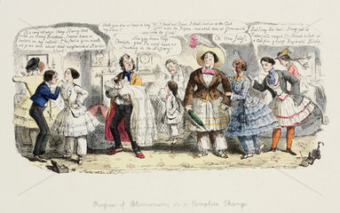 'The Progress of Bloomerism or A Complete Change'  1852.