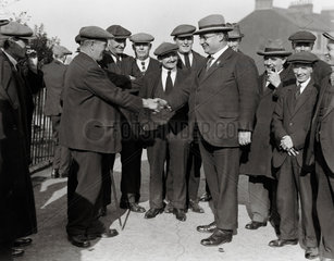 Ernest Bevin with his supporters  Gateshead  15 October 1931.