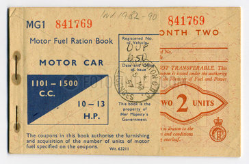 Motor fuel ration book  1957.