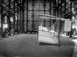 Cody Aeroplane No1showing struts and wing profile  1908.