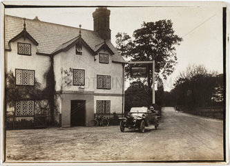 Motor car parked outside a hotel  Sandiway  Northwich  Cheshire  c 1912