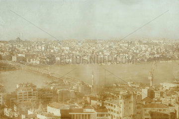 The Ataturk Bridge seen from the Galata Tower  Istanbul  c 2004.