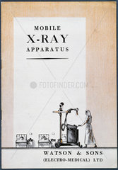 'Mobile X-ray apparatus' catalogue  1930s.