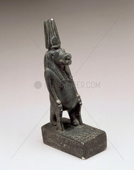 Bronze figure of Taweret as a pregnant hippopotamus  1500BC-501BC.