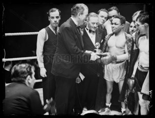 Henry Armstrong  American boxer  1939.