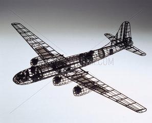 Shadow test model of Tupolev Tu-4  1955-1960.