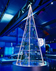 'Modern' Christmas tree  Science Museum  December 2000.
