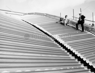 Contractors on the roof of the £130 million