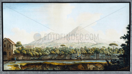 Mount Vesuvius  Kingdom of Naples  c 1767.