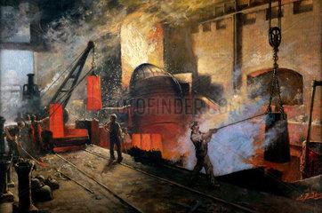 Manufacturing Bessemer Steel  1914-1918.