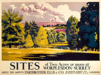 Worplesdon  poster  1936.