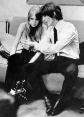 Beatle George Harrison and his wife Patti  9 March 1966.
