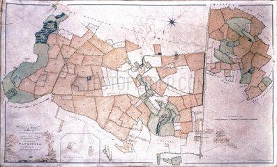 Plan of Matthew Baillie's estate at Duntisbourne  Gloucestershire  1790-1823.