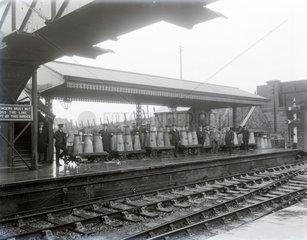 Milk traffic  Highbride Paddington  February 1928.