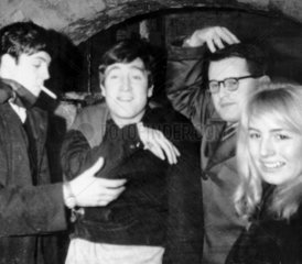 Beatles John Lennon and Paul McCartney at the Cavern Club c 1960.