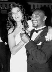 Brooke Shields and Marvin Hagler  May 1985.