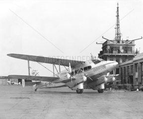 DeHavilland DH86 'Neptune' G-AEFH at Croydon Airport  1938.
