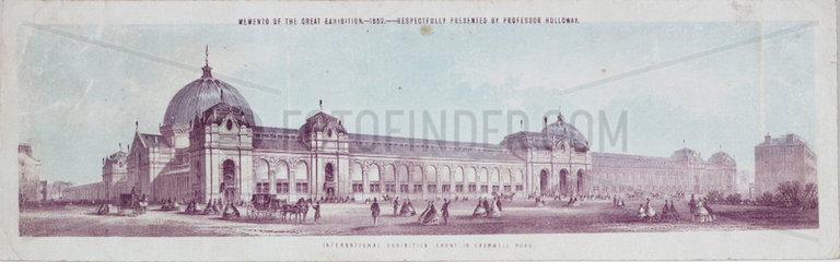 'International Exhibition Front in Cromwell Road'  London  1862.