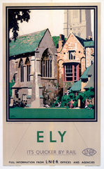 'Ely: Prior Crauden's Chapel'  LNER poster  1923-1947.