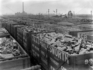 Coal at Goole Docks  24 April 1911.
