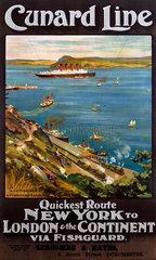 'Cunard line'  poster  c 1914.