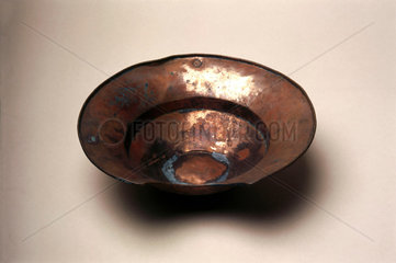 Barber's shaving bowl  Algerian  19th century.