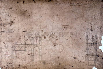 Side lever engine plan for a 20 hp engine  July 1825.