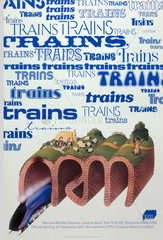 'National Railway Museum'  official opening poster  27 September 1975.