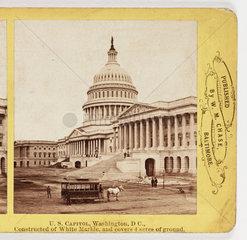 'US Capitol  Washington DC'  c 1880.