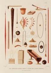 Artefacts from the Mariana Islands  1817-1820.