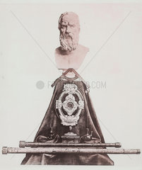 Bust of Galileo with instruments  c 1876.