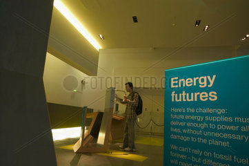 Energy futures display  Science Museum  London  2007.